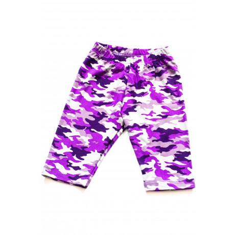 Бриджи для девочки  Милитари, фиолетовый