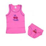 Комплект для девочки (майка + трусы) Вишня, розовый