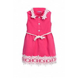 Платье с пояском, розовый