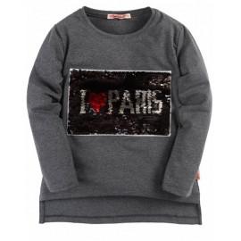 Туника для девочки Париж, темно-серый
