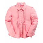 Рубашка для девочки классическая, розовый