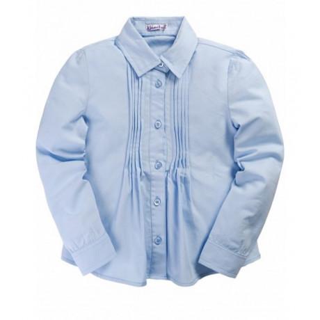 Рубашка для девочки классическая, голубой