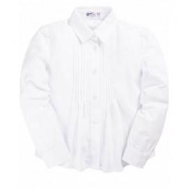 Рубашка для девочки классическая, белый
