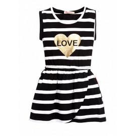 Платье для девочки Полосочка, черный
