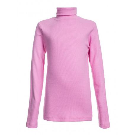 Водолазка для девочек однотонная кашкорсе, розовый