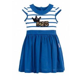 Платье для девочки Париж, синий