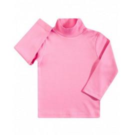Водолазка детская однотонная интерлок, розовый