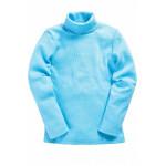 Водолазка детская однотонная кашкорсе, светло-голубой