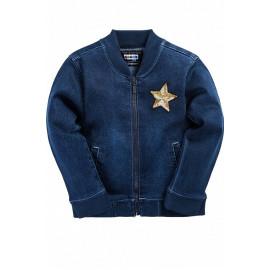 Куртка джинсовая Звезда, синий