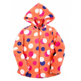 Толстовка для девочки с капюшоном, оранжевый