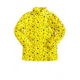 Водолазка для девочки Звездочки, желтый