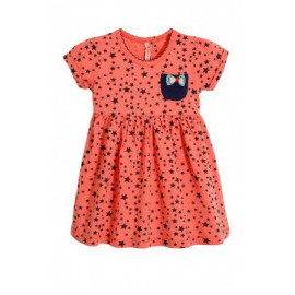 Платье для девочки Звездочки,  коралловый