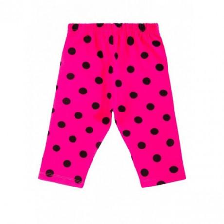 Бриджи для девочки горох, розовый
