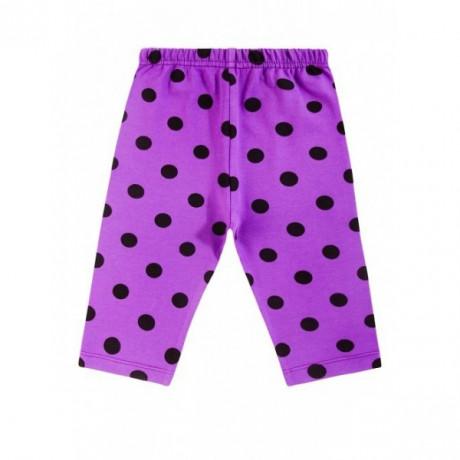 Бриджи для девочки горох, фиолетовый