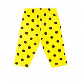 Бриджи для девочки горох, желтый