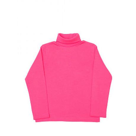 Водолазка для девочек однотонная в рубчик, розовый