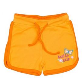 Шорты для девочки с вышивкой, оранжевый
