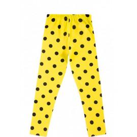 Лосины для девочки Горох, желтый