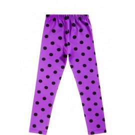 Лосины для девочки Горох, фиолетовый