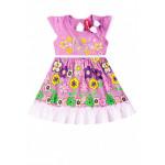 Платье для девочки Бабочка, сиреневый