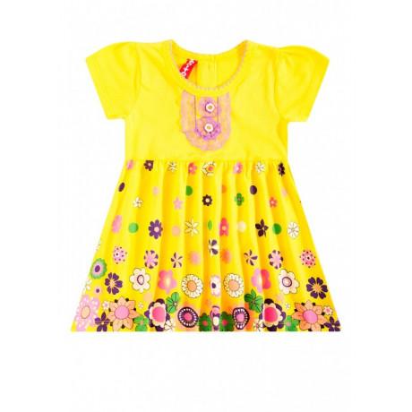 Платье для девочки Цветочный вальс, желтый