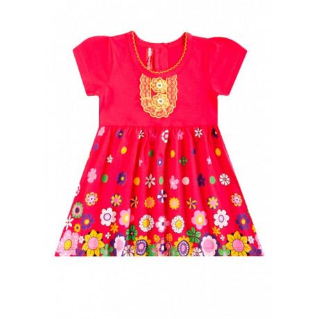 Платье для девочки Цветочный вальс, красный