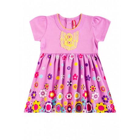 Платье для девочки Цветочный вальс, сиреневый