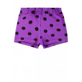 Шорты для девочки горох, фиолетовый