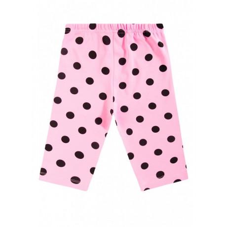 Бриджи для девочки горох, светло-розовый