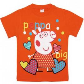 Футболка для девочки Свинка с сердечками