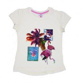 Футболка для девочки Фламинго