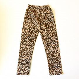 Лосины укороченные для девочки Леопард, коричневый