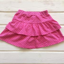 Юбка для девочки Горошек, розовый