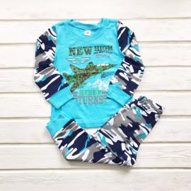 Пижама для мальчика Истребитель, голубой