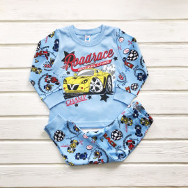 Пижама для мальчика Рэйсинг, голубой