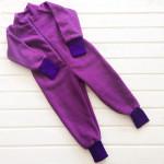 Комбинезон флисовый Мозаика, фиолетовый