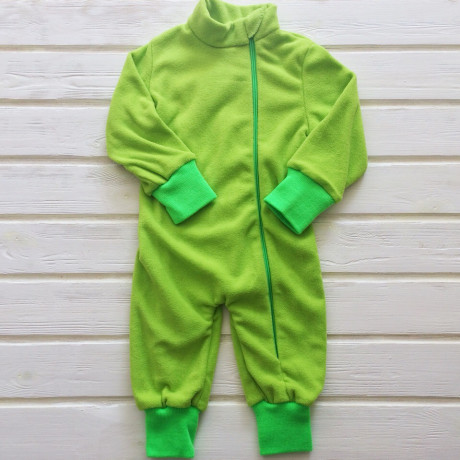 Комбинезон флисовый Детка, зеленое яблоко