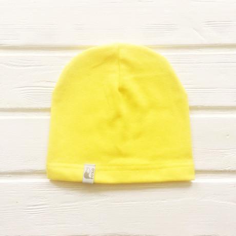Шапка бини однослойная одноцветная, желтый
