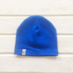 Шапка бини однослойная одноцветная, синий