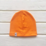Шапка бини однослойная одноцветная, оранжевый
