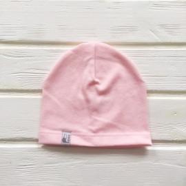 Шапка бини однослойная одноцветная, светло-розовый