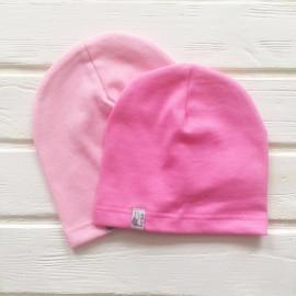 Шапка бини однослойная одноцветная, розовый