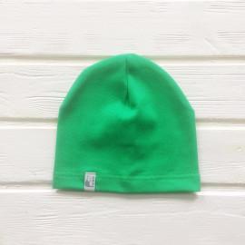 Шапка бини однослойная одноцветная, зеленый
