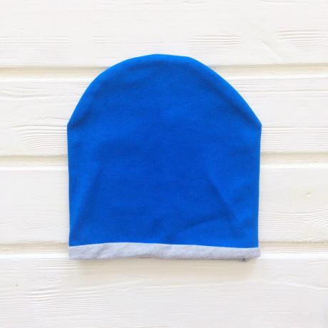 Шапка двухслойная с кантом, синий