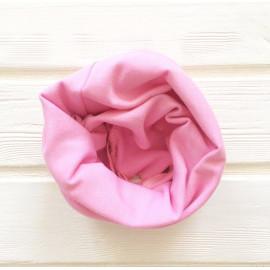 """Снуд """"труба"""" одноцветный, розовый"""