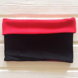 """Снуд """"труба"""" двусторонний двухцветный, красный/черный"""