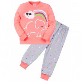 Пижама для девочки Слоник, персиковый