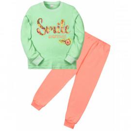 Пижама для девочки Смайл, зеленый