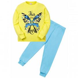 Пижама для девочки Бабочка, желтый