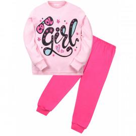 Пижама для девочки Гёрл, розовый